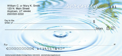 Serenity Impressions Personal Checks