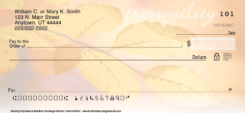 Serenity Impressions Personal Checks
