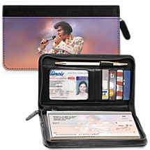Remembering Elvis® Zippered Checkbook Cover