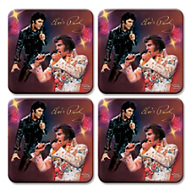 Elvis™ Coasters are a Rockin' Place to Park Beverages