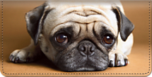 Faithful Friends - Pug Checkbook Cover