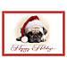 Faithful Friends - Pug Personalized Holiday Cards