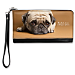 Faithful Friends - Pug Large Wristlet Purse