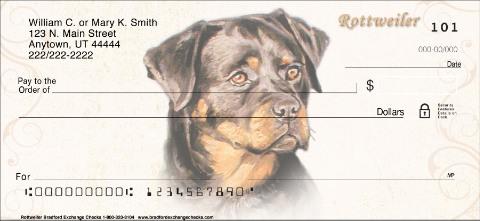 Rottweiler Personal Checks