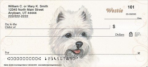 Westie Dog Personal Checks