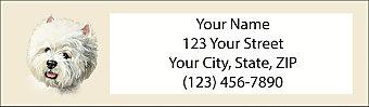 Westie Return Address Label