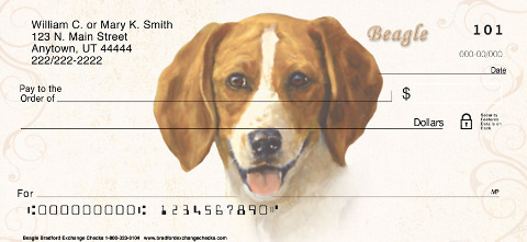 Beagle Dog Personal Checks