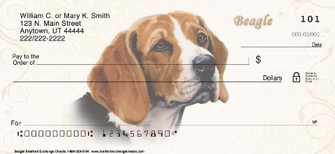 Beagle Paintings Personal Checks