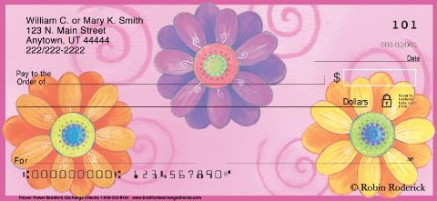 Flower Power Unique Personal Checks