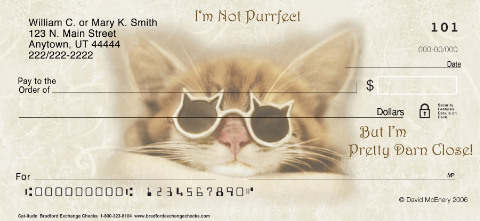 Cat-itude Personal Checks