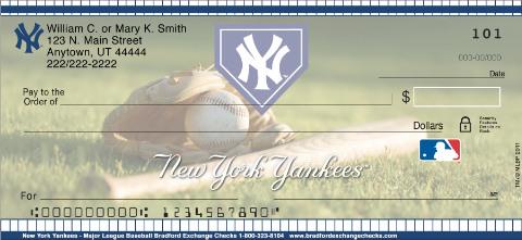 New York Yankees Mlb 174 Personal Checks