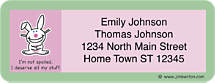 Jim Benton it's happy bunny Set of 150 Mailing Address Labels