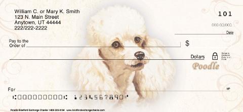 Poodle Portrait Personal Checks