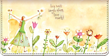 Garden Graces Checkbook Cover