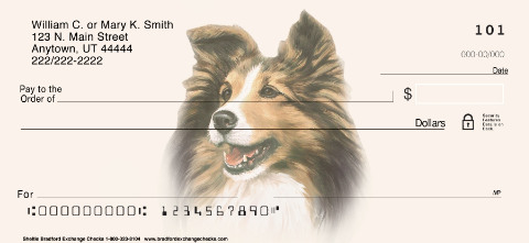 Sheltie Personal Checks