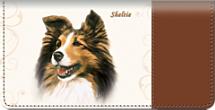 Sheltie Checkbook Cover