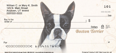 Boston Terrier Personal Checks
