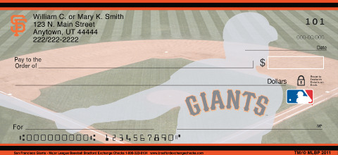 San Francisco Giants - Personal Checks