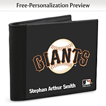 Show Your Giants™ Loyalty and Keep Cards Safe with this Leather-Accented RFID Wallet!
