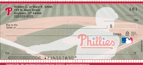Philadelphia Phillies - Personal Checks