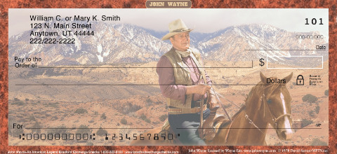 John Wayne: An American Legend Personal Checks