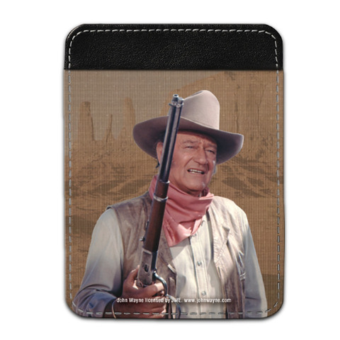 John Wayne Leather Checkbook Cover