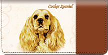 Cocker Spaniel Checkbook Cover