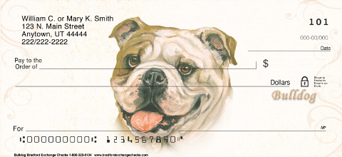 Bulldog Dog Personal Checks