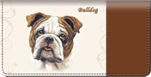 Bulldog Checkbook Cover
