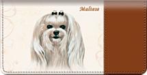 Maltese Checkbook Cover