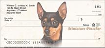 Miniature Pinscher Personal Checks