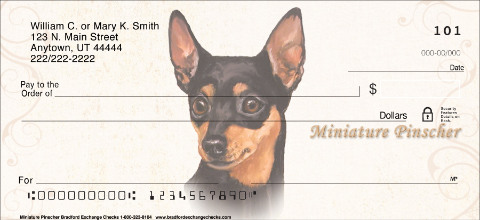 Miniature Pinscher Personal Checks