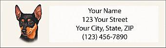 Miniature Pinscher Return Address Label