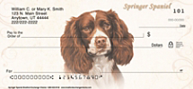 Springer Spaniel Personal Checks