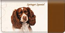 Springer Spaniel Checkbook Cover