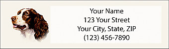 Springer Spaniel Return Address Label