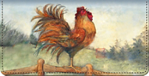 Le Rooster Checkbook Cover