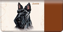 Scottie Checkbook Cover