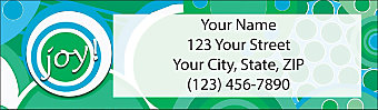 Kaleidoscope Return Address Label