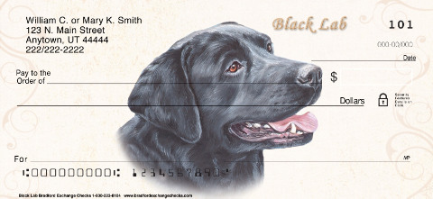 Black Labrador Personal Checks