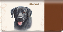 Black Labrador Checkbook Cover