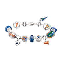 Florida Gators Charm Bracelet With Swarovski Crystals