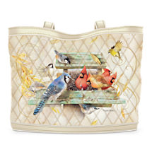Garden Bird Art Tote Bag With Free Cosmetic Cases