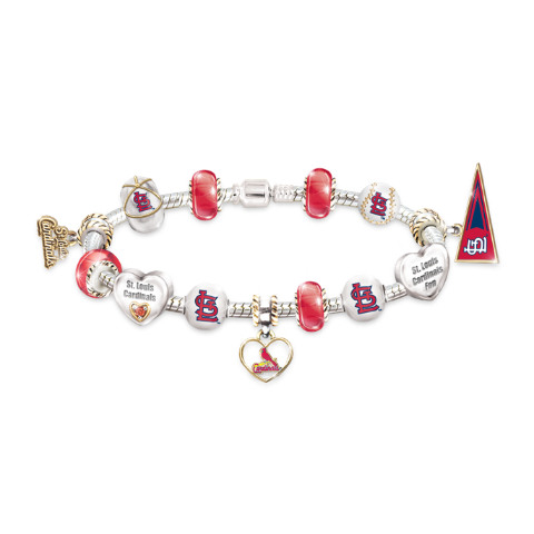 St Louis Cardinals Charm Bracelet With