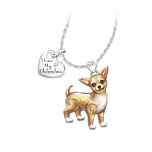 Chihuahua Dog Pendant Necklace with Movable Legs and Tail