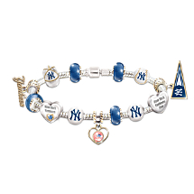 New York Yankees Charm Bracelet With Swarovski Crystal