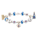 Chicago Cubs Charm Bracelet With Swarovski Crystal