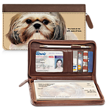 Faithful Friends - Shih Tzu Zippered Checkbook Cover