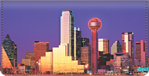 City Skylines - Dallas Checkbook Cover