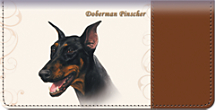 Doberman Checkbook Cover